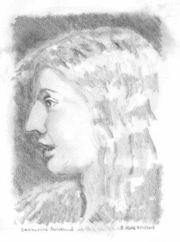 Sketch of Catherine Strickland