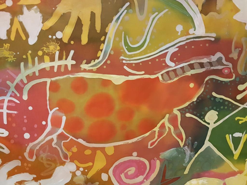 Cave art inspired batik