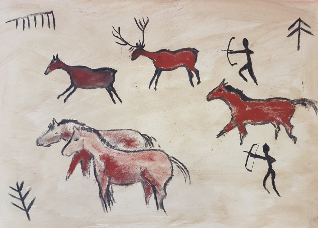 Palaeolithic art workshop